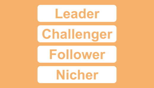 コトラーの競争地位4類型:リーダー・チャレンジャー・フォロワー・ニッチャーの戦略