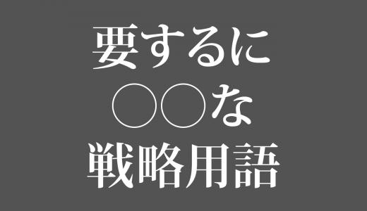 SWOT分析(すうぉっと-ぶんせき)