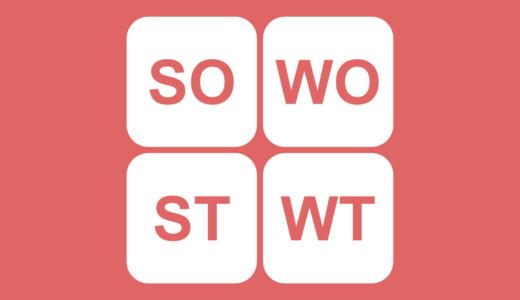 クロスSWOT分析とは?SO戦略・ST戦略・WO戦略・WT戦略