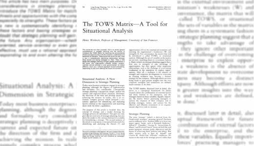 【論文解説】The TOWS Matrix – ハインツ・ワイリック 著