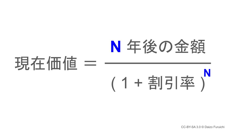 現在価値の計算式